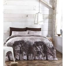 bed duvet cover set woodland bedding