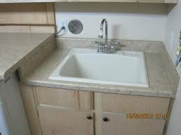 mustee laundry sink. Brilliant Sink MUSTEE 22 In X 25 Fiberglass SelfRimming Utility Sink In Biscuit  10CBT At The Home Depot  Mobile Intended Mustee Laundry A