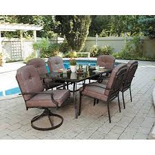 amazoncom 7 piece patio dining set seats 6 enjoy the outdoors with this furniture set impress your neighbors design of outdoor patio dining sets19