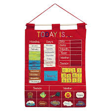 Details About Kids Chart Wall Calendar Learn Days Months Year Season Weather Toddler New
