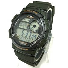 ae 1000w 3a green watch for men casio ae 1000w 3a green watch for men