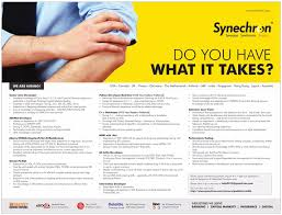 Jobs In Synechron Vacancies In Synechron Opportunities At