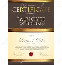 Employee Of The Year Certificate Template Free Certificate Template Employee Of The Year