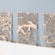 Planqkaart Houten Stadskaart Parijs Studio Perspective