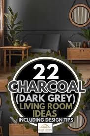 22 charcoal dark gray living room