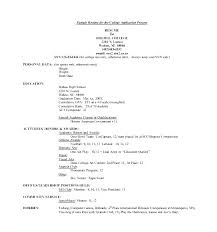 Sample Application Resume For Template Support Analyst Classy Resume Applicant