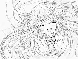 Cute Anime Girl Coloring Page Coloring Pages 608 Bestofcoloringcom