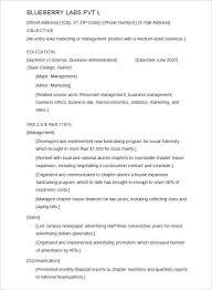 Sample Resume For It Jobs Sample College Resume Template Curriculum