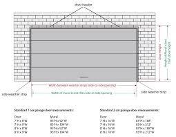 tremendous standard double door width amazing double garage door width standard garage door size