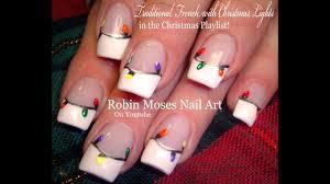 Christmas Light Nails String Easy Christmas Nails Diy Traditional Xmas Lights Nail Art Design Tutorial