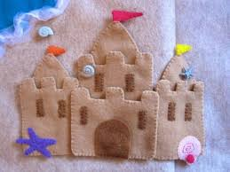 sandcastle quiet book page pattern pdf and tutorial image is only half of the page