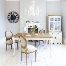 Living Room:Pretty Shabby Chic Dining Room With Retro Wall Decor And White  Iron Chandelier