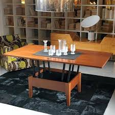 coffee table turns into dining table coffee table turns into dining table brown microfiber arms sofa