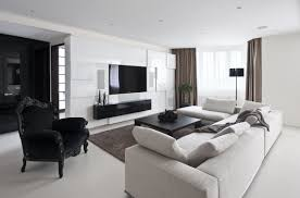 Modern Living Room Black And White Black And White Living Room Wall Paint