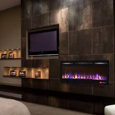 recessed wall mount electric fireplace gl2036mc 1