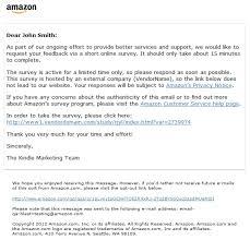 Amazon Com Help About Amazon Consumer Survey E Mails