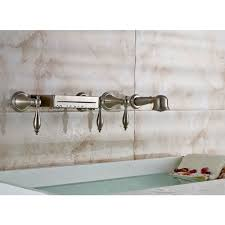 wall mount bathtub waterfall faucet hand shower