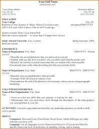 Sample Resume For College Student Applying For Internship ...