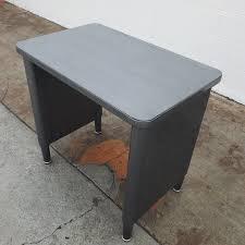 Vintage metal furniture Aluminum Rivet Mcdowell Craig Vintage Printer Table Console Table Calmbizcom Retro Office Inc