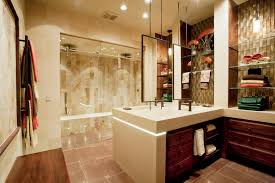 custom bathroom lighting. Endearing White Tops Vanities Bathroom With Wooden Drawers And Square Mirror Also Ceiling Bath Lighting Custom Steam Shower In Guest Designs S