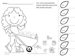 Color Cut And Paste Worksheets For Kindergarten - Everylev Elofs