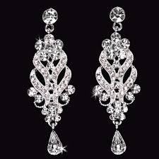 charlotte beautiful vintage inspired bridal chandelier earrings