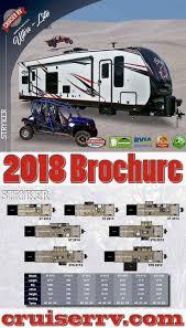 2018 stryker per pull toy haulers brochure cruiser rv toy hauler rv pull toy