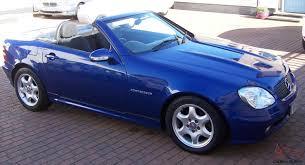 2001 MERCEDES SLK 230 KOMPRESSOR AUTOMATIC BLUE METALLIC