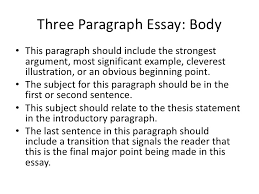 writing a paragraph essay the writing center  writing a 3 paragraph essay