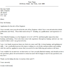 Gas Engineer Cover Letter Example Icover Org Uk