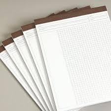Freeleaf White Annotation Grid Pads Paper Levenger