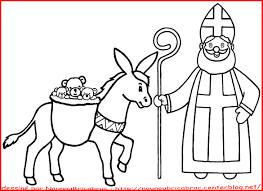 Saint Nicolas Et Son Ne Colorier Chantourner Pinterest