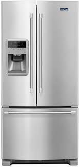 Mfi Replacement Kitchen Doors Maytag Stainless 22 Cuft French Door Fridge With Ice And Water