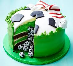Surprise Piñata Football Cake Recipe Bbc Good Food