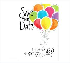 Party Templates Save The Date Birthday Template The Date Birthday Free Online
