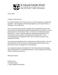 Sample Student Recommendation Letter For Middle School