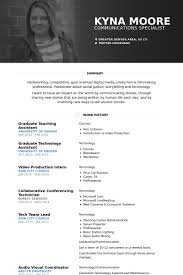 Graduate Teaching Assistant Resume Samples Visualcv Resume Samples