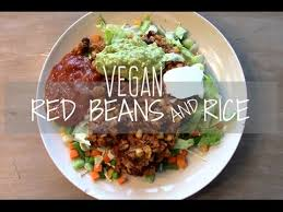super easy red beans and rice vegan