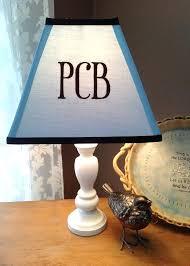 monogrammed lamp shade monogrammed lamp shade light baby blue by monogrammed lamp shades custom