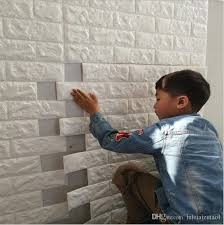 diy brick wall 3d sticker living room tv background decor foam waterproof 3d wall stickers self adhesive wallpaper decoration for kids room wall decals and  on camo wall art self stick with diy brick wall 3d sticker living room tv background decor foam