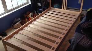 how to build assemble put together ikea fjellse wooden twin b on heavy duty metal bed