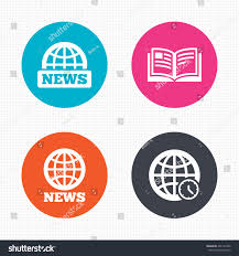 symbol in literature circle buttons news icons world globe stock  circle buttons news icons world globe stock vector world globe symbols open book sign education literature