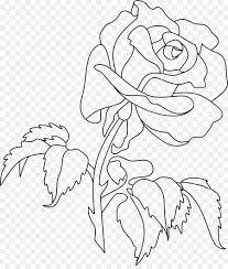 rose coloring book flower drawing clip art rose