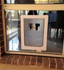 large rectangular dog door to suit glass or screen installation