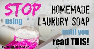 homemade laundry detergent soap