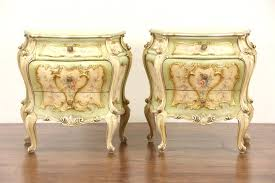 Antique Night Stands Sold Pair Of Venetian Hand Painted Baroque Vintage Italian