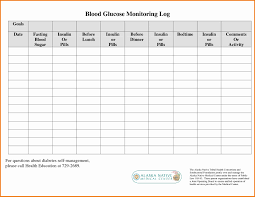 Blood Glucose Chart Template Printable Blood Sugar Chart Template Lovely 24 Blood Sugar Log 9
