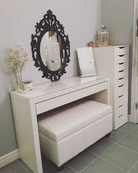 ikea micke desk makeup storage updated vanity malm alex drawers bella