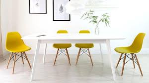 eclectic yellow dining room decor with modern art antique buffet for yellow dining chairs ideas interior yellow leather
