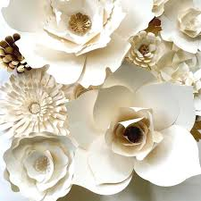 White Paper Flower Backdrop White Wall Flowers Large Paper Flower Backdrop White Floral Wall